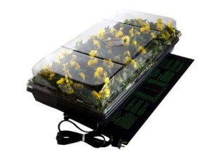 Hydrofarm 72 Cell Pack 2in. Dome Germination Station With Heat Mat & Tray CK64050