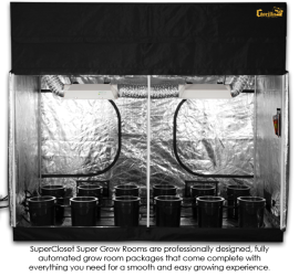 SuperCloset 5×9 SuperRoom Hydroponic Grow Room System Tent Package