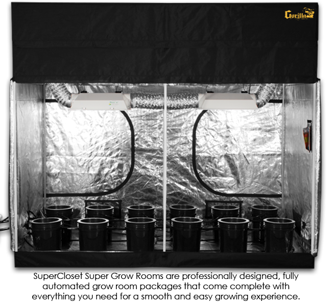SuperCloset 5x9 SuperRoom Hydroponic Grow Room