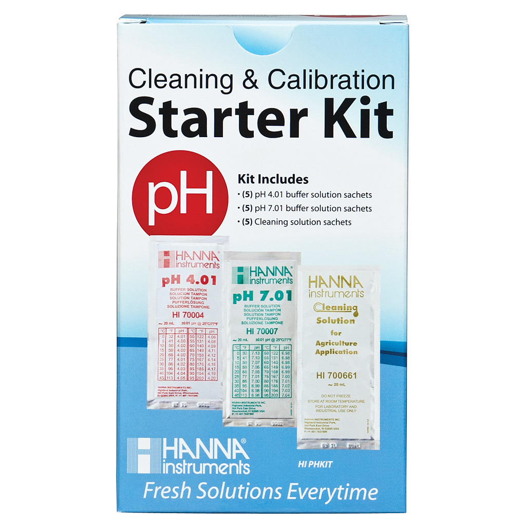 Hanna Solution Starter Kit (pH & Cleaning)