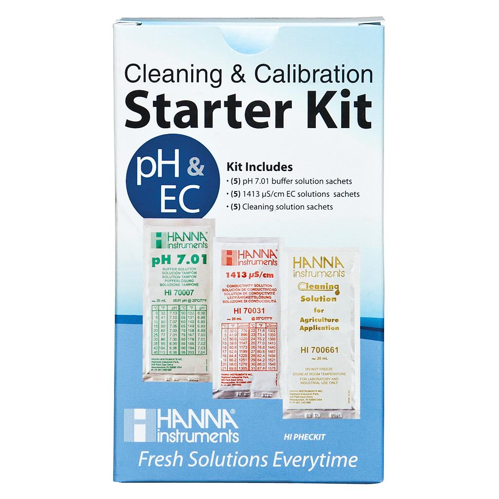 Hanna Solution Starter Kit (pH, EC & Cleaning)