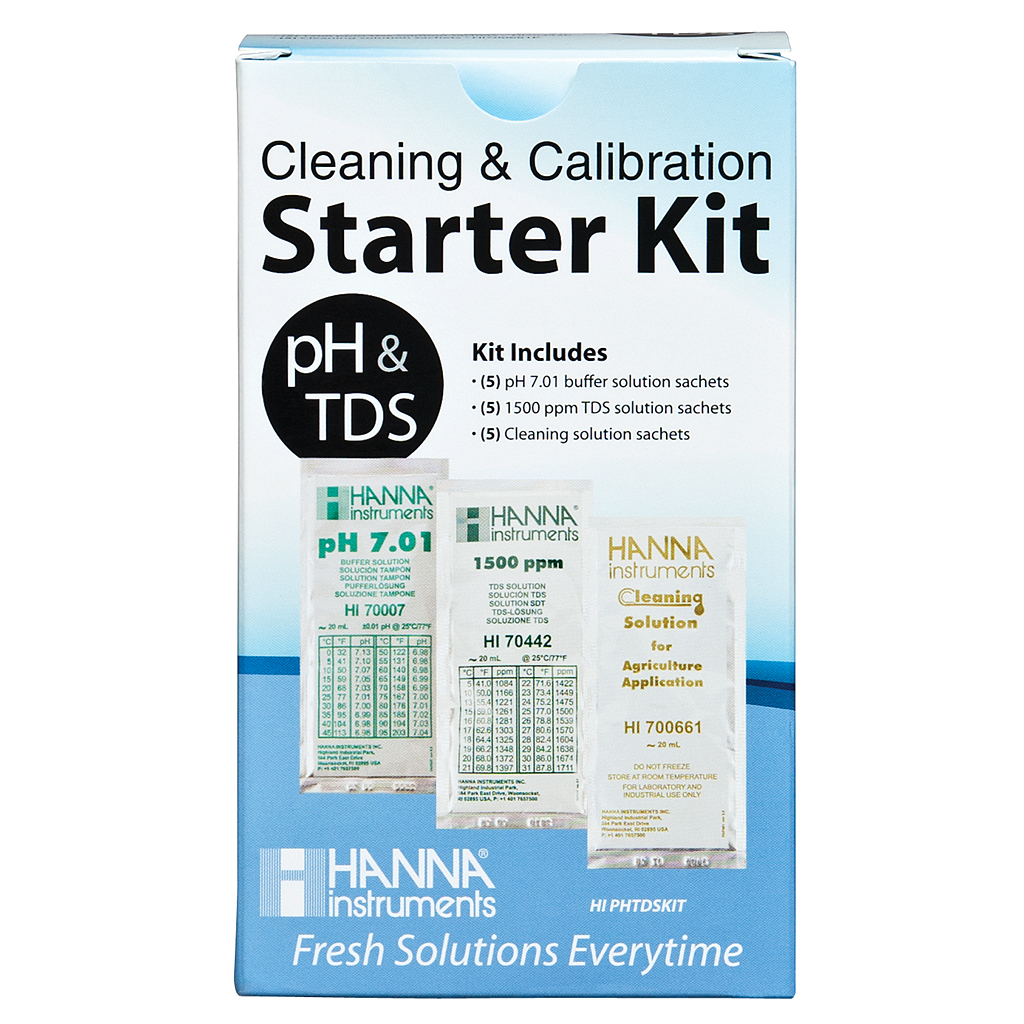 Hanna Solution Starter Kit (pH, TDS & Cleaning)