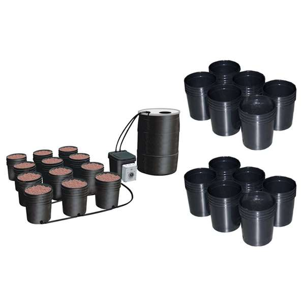 C.A.P. EBB-12 Ebb & Gro 12 Site Hydroponic Sytem + (2) 6 Pot Expansion Kits