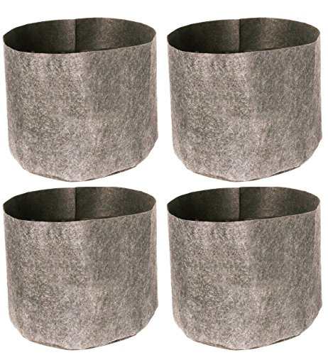 "(4) HYDROFARM HGDB1 1 Gal Flexible Portable Dirt Pot Garden Planters | 7 x 5.5"""